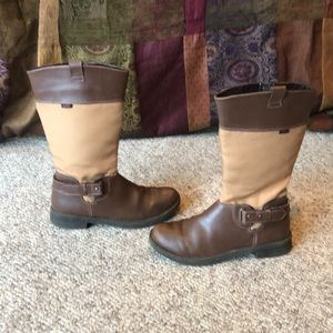Umi brown & tan two tone riding boots size 3